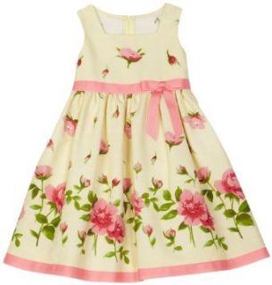 Bonnie Jean Girls 2 6x Toddler Girls Yellow Linen Dress, Yellow, 3 Clothing
