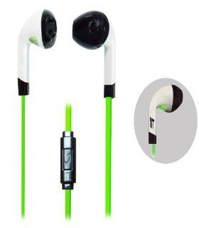 X5 mobile Hands free 3.5mm Stereo Sound Headset With Microphone & On And Off Button for all Apple and Android Devices and for most cell Phone Models and Brands   Retail Packaging  (Green): Cell Phones & Accessories