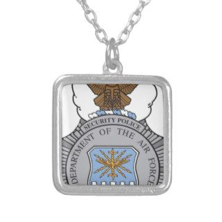 United States Air Force Security Forces Badge Necklace