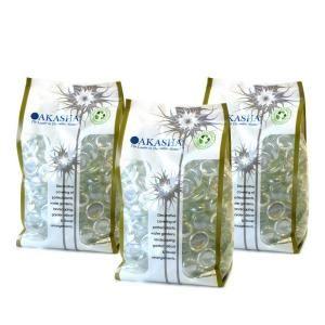 Akasha 9 lb. Clear Iridescent Glass Gems 3 lb. Bags GGCLIRHD