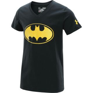 UNDER ARMOUR Girls Alter Ego Batgirl V Neck Short Sleeve T Shirt   Size: