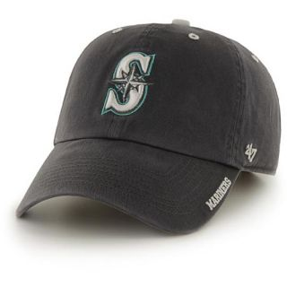 47 BRAND Mens Seattle Mariners Charcoal Ice Clean Up Adjustable Cap   Size: