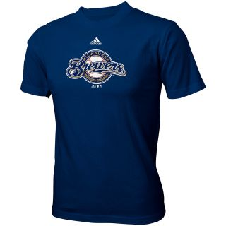 adidas Youth Milwaukee Brewers Team Logo Short Sleeve T Shirt   Size: Large,