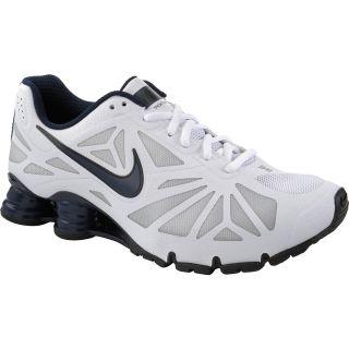 NIKE Mens Shox Turbo 14 Running Shoes   Size 10.5, White/obsidian