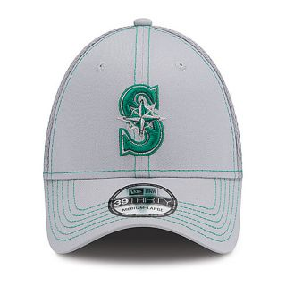 NEW ERA Mens Seattle Mariners Gray Neo 39THIRTY Stretch Fit Cap   Size: S/m,