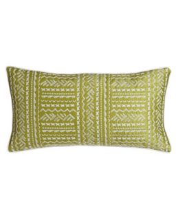 Green Pillow w/ Stitching, 12 x 22