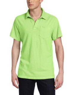 Calvin Klein Jeans Men's Split Neck Shirt Neon Yellow XXL at  Men�s Clothing store