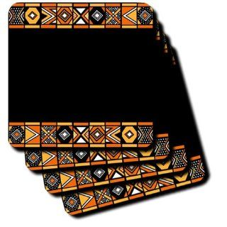 cst_76554_1 InspirationzStore African Patterns   Traditional African Pattern   Art of Africa Inspired by Zulu Beadwork Geometric designs   Ethnic   Coasters   set of 4 Coasters   Soft Kitchen & Dining