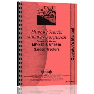 Massey Ferguson 1030 Garden Tractor Operator Manual (MH O MF1450+) Jensales Ag Products Books
