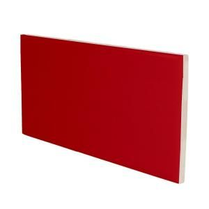 U.S. Ceramic Tile Color Collection 3 in. x 6 in. Bright Red Pepper Ceramic Wall Tile with a 3 in. Surface Bullnose DISCONTINUED U739 S4639