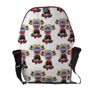Pro Obama Pug Messenger bag (girl pug)