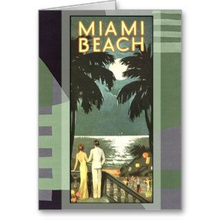 Art Deco Vintage Miami Beach Cards