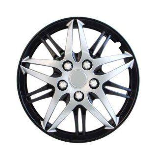 """Pilot Automotive WH544 15C BLK Formula Performance Series Silver 15"""" Wheel Cover with Black Chrome, (Set of 4) Automotive"""