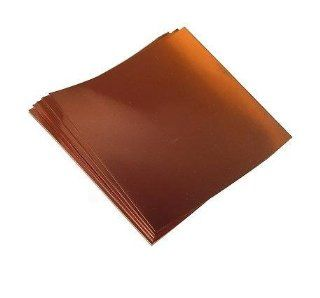 """6"""" X 12"""" / 8 Mil Copper Sheets (4 sheets): Office Products"""