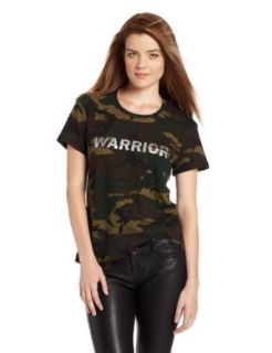 TEXTILE Elizabeth and James Women's Warrior Bowery Tee, Olive Camo/Silver, Small