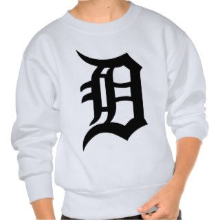Old English Letter D Pullover Sweatshirts