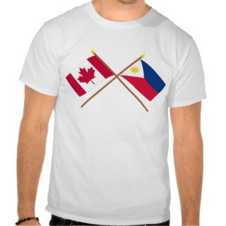 Canada and Philippines Crossed Flags Shirts