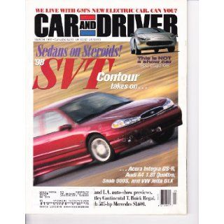 CAR & DRIVER MAGAZINE, MARCH 1997   Sedans on Steroids (Contour, Integra, Audi A4, Saab 900s, Jetta GLX), GM's New Electric Car, '98 Concorde LXi, etc.: Editors of Car & Driver: Books