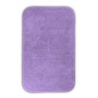 Garland Rug Glamor Purple 24 in. x 40 in. Washable Bathroom Accent Rug ALU 2440 09