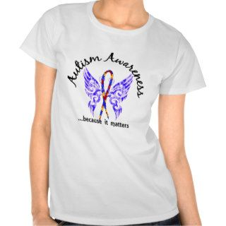 Grunge Tattoo Butterfly 6.1 Autism Tshirts