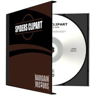 Spiders Clipart Vinyl Cutter Plotter Clip Art Images Sign Design Artwork EPS Vector Art Graphics Software CD ROM: Software