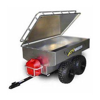 ATV Wagon 45 Cubic Foot Aluminum Tandem Axle Trailer   1600AL  Yard Signs  Patio, Lawn & Garden