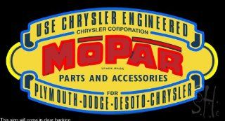 """Mopar Vintage Shield Clear Backing Neon Sign 20"""" Tall x 37"""" Wide  Business And Store Signs"""