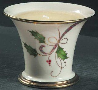Lenox China Holiday Nouveau Gold Candle Votive, Fine China Dinnerware