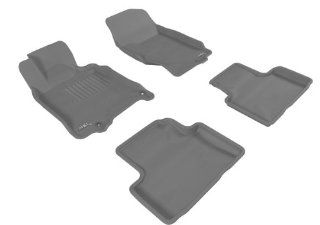 MAXpider GRAY Rubber Floor Mats, Full Set, 4 pieces, Fits 2007 2011 Infiniti G37 / G35 / G25, Additional Fitment Notes Automotive