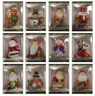 Christmas By Krebs Figural Glass Ornaments