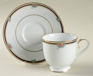 Noritake April Poem Footed Cup & Saucer Set, Fine China Dinnerware   Formal Chin