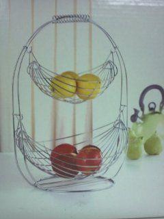 Fruit Basket  2 Tier Swinging Basket Kitchen & Dining