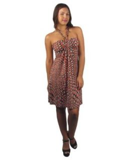 599fashion Halter neck knee length dress at  Women�s Clothing store: