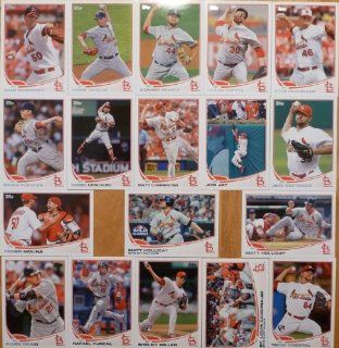 2013 Topps St. Louis Cardinals Team Set (Series 1) 18 Cards   Jon Jay, Rosenthal RC, McClellan, Westbrook, Miller RC, Holliday (2), Molina, Motte, Wainwright, Garcia, Fuentes, Descalso, Craig, Furcal, Carpenter, Mujica, and NLDS highlight card. Sports Col