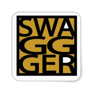 Swag, Swagger, GG Square Sticker