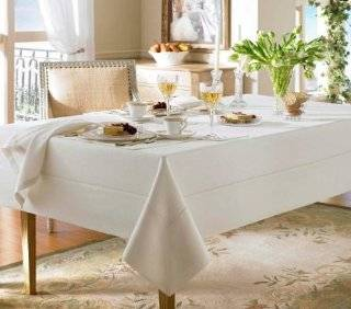 Waterford Linens Addison Linen Oblong 70 x 144in Table Cloth French Blue   Tablecloths