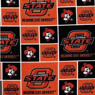 """44"""" Wide Fabric Oklahoma State University O State   Orange/Black Fabric By the Yard : Other Products : Everything Else"""