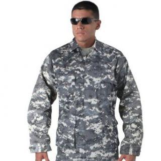 Subdued Urban Digital Camouflage Military BDU Fatigue Shirt Clothing