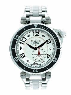Gio Monaco Men's 644 Poseidon Silver Dial Stainless Steel Watch: Watches
