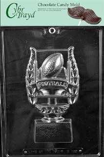 Cybrtrayd S103 Sports Chocolate Candy Mold, Football Trophy for Specialty Box Kitchen & Dining