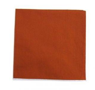 Burnt Orange Cotton Pocket Square w/White Border at  Men�s Clothing store Handkerchiefs