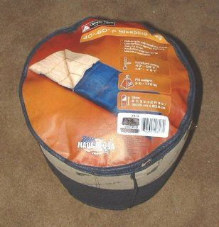 Ozark Trails Adult Full size sleeping Bag Tan Blue  Winter Sleeping Bags  Sports & Outdoors