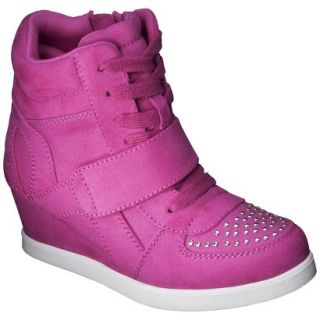 Girls Cherokee Harmony High Top Sneaker Wedge   Pink 13