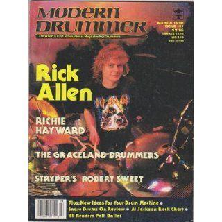 Modern Drummer Magazine (March 1988) (Def Leppard   Rick Allen): Ronald Spagnardi: Books