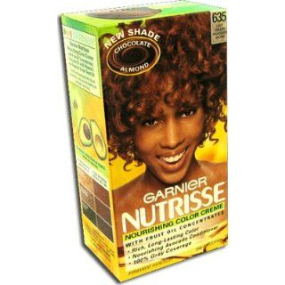 Garnier Nutrisse Permanent Creme Haircolor #635 Chocolate Almond (Light Golden Mahogany Brown)  Beauty