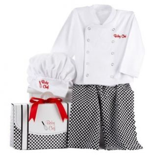 Baby Aspen Big Dreamzzz? Baby Chef Layette Set with Gift Box, White, 0 6 Months Clothing