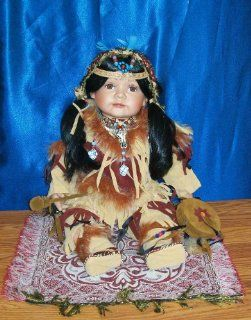 """20"""" Porcelain Doll Native American Indian """"Abbey"""" Toys & Games"""