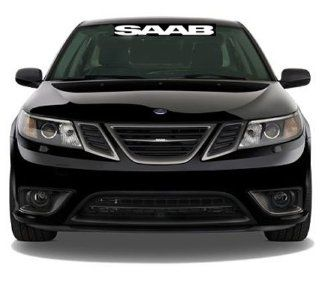 "SAAB 36"" (3Feet) WHITE Front Windshield VINYL STICKER / DECAL Car.Truck, Wall   Wall Decor Stickers"