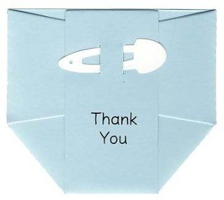 12 Blue Diaper Baby Thank You Cards   Baby Gift or Baby Shower Thank You Notes with Envelopes: Everything Else
