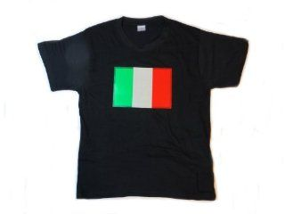 Italy Flag LED Flashing Sound Activated Light Up Shirt (Large   L): Toys & Games